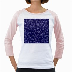 Snowflakes Pattern Girly Raglans by Sapixe