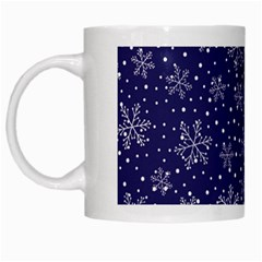Snowflakes Pattern White Mugs by Sapixe