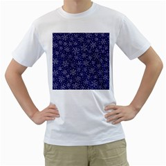 Snowflakes Pattern Men s T Shirt (white) (two Sided) by Sapixe