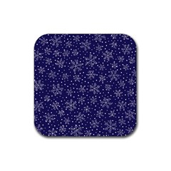 Snowflakes Pattern Rubber Square Coaster (4 Pack)  by Sapixe