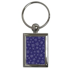 Snowflakes Pattern Key Chains (rectangle)  by Sapixe