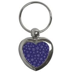 Snowflakes Pattern Key Chains (heart)  by Sapixe