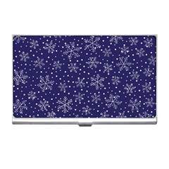Snowflakes Pattern Business Card Holders by Sapixe