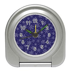 Snowflakes Pattern Travel Alarm Clocks by Sapixe