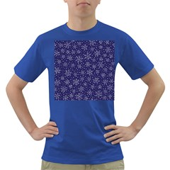 Snowflakes Pattern Dark T Shirt by Sapixe