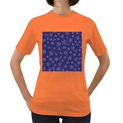 Snowflakes Pattern Women s Dark T Shirt by Sapixe