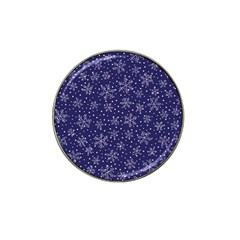 Snowflakes Pattern Hat Clip Ball Marker (10 Pack) by Sapixe
