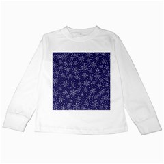 Snowflakes Pattern Kids Long Sleeve T Shirts by Sapixe