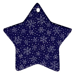 Snowflakes Pattern Star Ornament (two Sides) by Sapixe