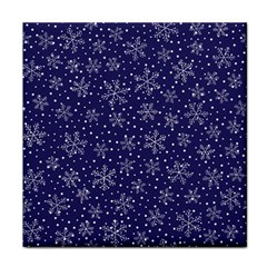 Snowflakes Pattern Face Towel by Sapixe