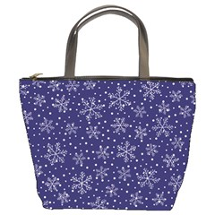 Snowflakes Pattern Bucket Bags by Sapixe