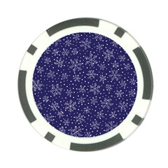 Snowflakes Pattern Poker Chip Card Guard (10 Pack) by Sapixe