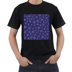 Snowflakes Pattern Men s T Shirt (black) by Sapixe