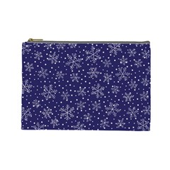 Snowflakes Pattern Cosmetic Bag (large)  by Sapixe