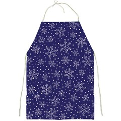 Snowflakes Pattern Full Print Aprons by Sapixe