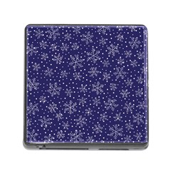 Snowflakes Pattern Memory Card Reader (square) by Sapixe