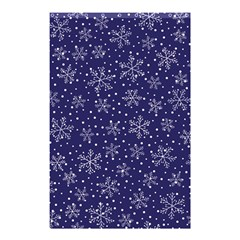 Snowflakes Pattern Shower Curtain 48  X 72  (small)  by Sapixe