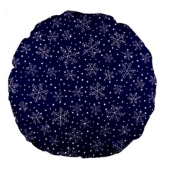 Snowflakes Pattern Large 18  Premium Round Cushions by Sapixe