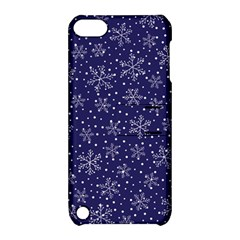 Snowflakes Pattern Apple Ipod Touch 5 Hardshell Case With Stand by Sapixe