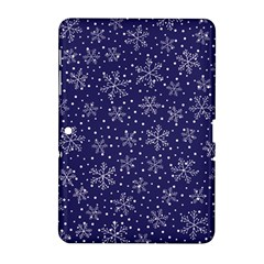 Snowflakes Pattern Samsung Galaxy Tab 2 (10 1 ) P5100 Hardshell Case  by Sapixe