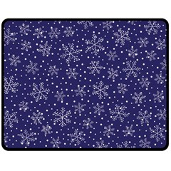 Snowflakes Pattern Double Sided Fleece Blanket (medium)  by Sapixe