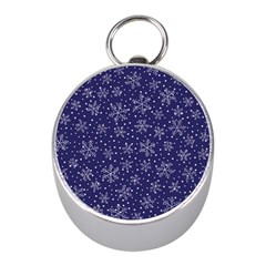 Snowflakes Pattern Mini Silver Compasses by Sapixe