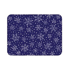 Snowflakes Pattern Double Sided Flano Blanket (mini)  by Sapixe