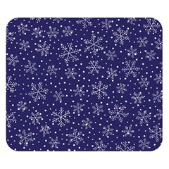 Snowflakes Pattern Double Sided Flano Blanket (small)  by Sapixe