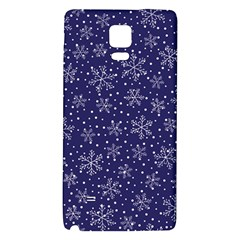 Snowflakes Pattern Galaxy Note 4 Back Case by Sapixe