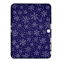 Snowflakes Pattern Samsung Galaxy Tab 4 (10 1 ) Hardshell Case  by Sapixe