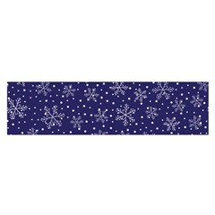 Snowflakes Pattern Satin Scarf (oblong) by Sapixe