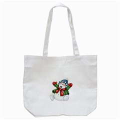 Snowman With Scarf Tote Bag (white) by Sapixe