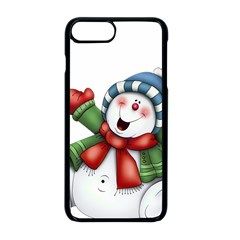 Snowman With Scarf Apple Iphone 8 Plus Seamless Case (black)