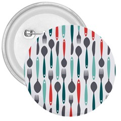 Spoon Fork Knife Pattern 3  Buttons by Sapixe