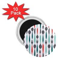Spoon Fork Knife Pattern 1 75  Magnets (10 Pack)  by Sapixe