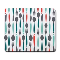 Spoon Fork Knife Pattern Large Mousepads by Sapixe