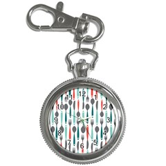 Spoon Fork Knife Pattern Key Chain Watches by Sapixe