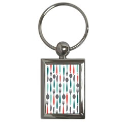 Spoon Fork Knife Pattern Key Chains (rectangle)  by Sapixe