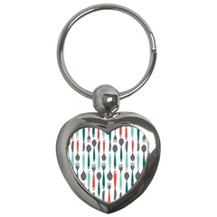 Spoon Fork Knife Pattern Key Chains (heart)  by Sapixe