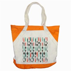 Spoon Fork Knife Pattern Accent Tote Bag by Sapixe