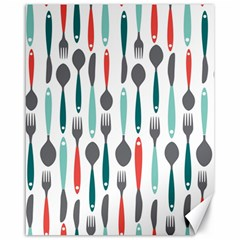 Spoon Fork Knife Pattern Canvas 16  X 20   by Sapixe
