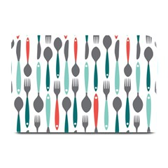 Spoon Fork Knife Pattern Plate Mats by Sapixe