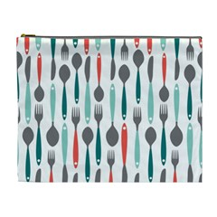 Spoon Fork Knife Pattern Cosmetic Bag (xl) by Sapixe