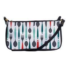 Spoon Fork Knife Pattern Shoulder Clutch Bags by Sapixe