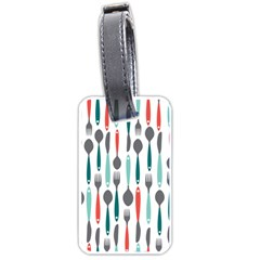 Spoon Fork Knife Pattern Luggage Tags (one Side)  by Sapixe