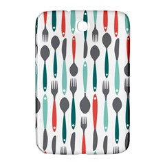 Spoon Fork Knife Pattern Samsung Galaxy Note 8 0 N5100 Hardshell Case  by Sapixe