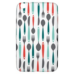 Spoon Fork Knife Pattern Samsung Galaxy Tab 3 (8 ) T3100 Hardshell Case  by Sapixe