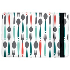 Spoon Fork Knife Pattern Ipad Air 2 Flip by Sapixe
