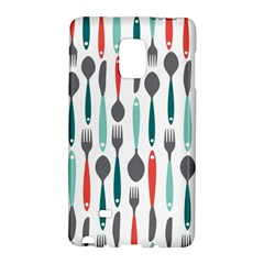 Spoon Fork Knife Pattern Galaxy Note Edge by Sapixe