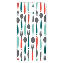 Spoon Fork Knife Pattern Galaxy Note 4 Back Case by Sapixe